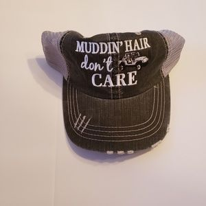 Black gray embroidery white muddin hair dont care